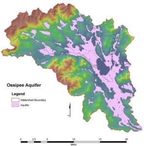 Ossipee Aquifer Map
