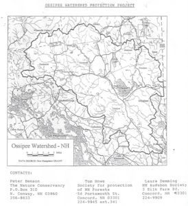 Ossipee Watershed Protection Project Map 1998