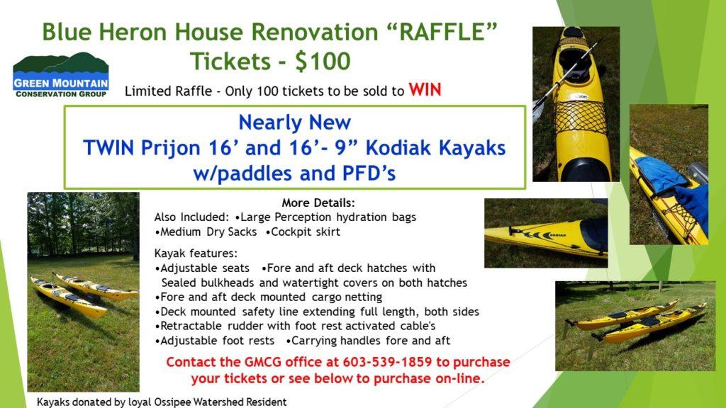 Kayaks Raffle Flyer