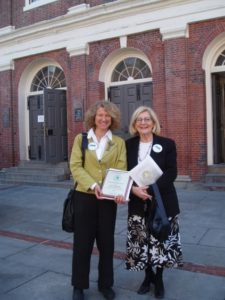 Blair Folts and Esther Folts following the EPA Award ceremony